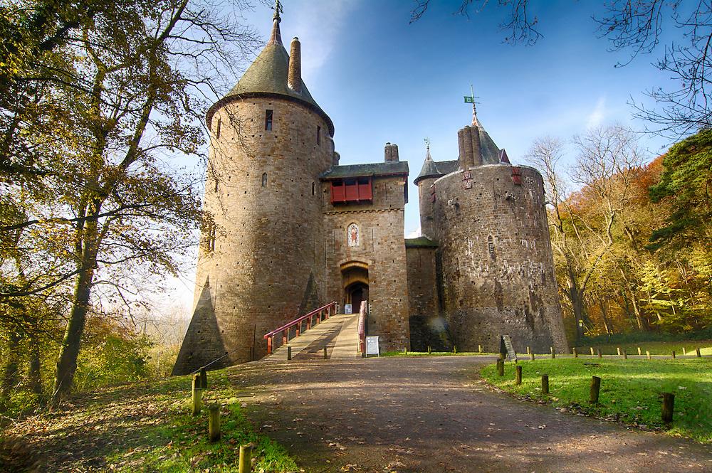 Castell Coch fairy tale castle, Wales