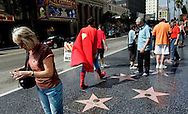 US-LOS ANGELES: Superman walking by on Hollywood Boulevard PHOTO: GERRIT DE HEUS