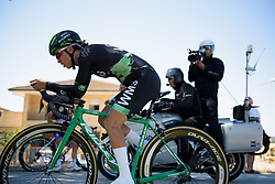 Kasia Niewiadoma on Stage 5 of the Giro Rosa - a 12.7 km individual time trial, starting and finishing in Sant'Elpido A Mare on July 4, 2017, in Fermo, Italy. (Photo by Sean Robinson/Velofocus.com)