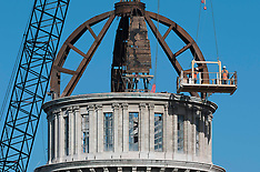 Christchurch-Dome removed from Cathedral