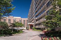 Exterior image of Meridian Tower Apartments in Washington DC by Jeffrey Sauers of Commercial Photographics, Architectural Photo Artistry in Washington DC, Virginia to Florida and PA to New England