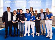 Premiazione Arbitri<br /> Final Four  Coppa Italia FIN Femminile pallanuoto 2016-17<br /> Centro Federale di Ostia, Roma, ITA<br /> 1 Aprile 2017<br /> &copy;Giorgio Scala / Deepbluemedia