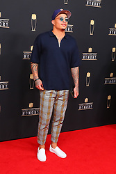 February 2, 2019 - Atlanta, GA, U.S. - ATLANTA, GA - FEBRUARY 02:  Kenny Stills  poses for photos on the red carpet at the NFL Honors on February 2, 2019 at the Fox Theatre in Atlanta, GA. (Photo by Rich Graessle/Icon Sportswire) (Credit Image: © Rich Graessle/Icon SMI via ZUMA Press)