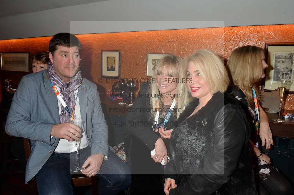 Left to right, ?, JO WOOD and BRIX SMITH START at the Cirque Du Soleil's VIP performance of Kooza at The Royal Albert Hall, London on 6th January 2015.