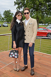 ZARA MARTIN and NAT WELLER at the Audi Polo Challenge at Coworth Park, Blacknest Road, Ascot, Berkshire on 31st May 2015.