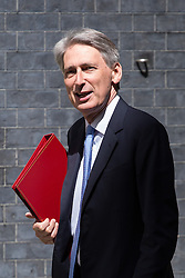 Image ©Licensed to i-Images Picture Agency. 10/06/2014. London, United Kingdom. Cabinet Meeting. Philip Hammond arrives for the cabinet meeting today at 10 Downing Street. Picture by Daniel Leal-Olivas / i-Images