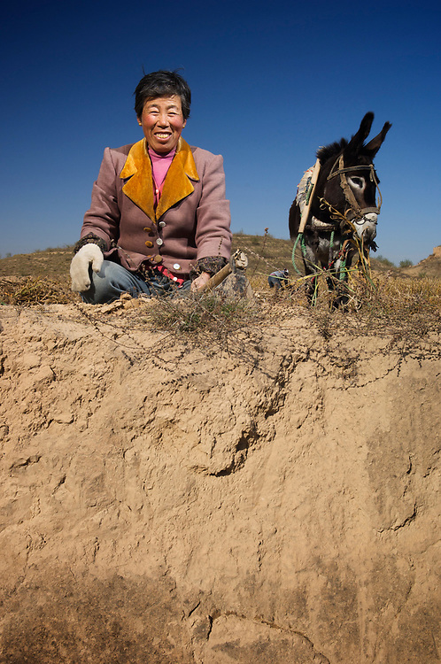 The worst erosion on Earth is seen in the deeply gullied hills of the Loess plateau in Shaanxi province of chinaHeavy soil erosion of the Loess Plateau in the Yuan Yang distirict, Yulin City, Shaanxi Province, China. Zhang Yulan farms with her husband in the village of Yin Jai Yan in the county of Liu Quian He county, Yuan Yang distirict, Yulin City, Shaanxi Province.