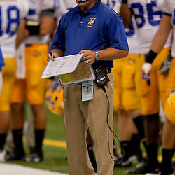 Sep 26, 2009; New Orleans, LA, USA; McNesse State Cowboys head coach Matt Viator on the sideline against the Tulane Green Wave at the Louisiana Superdome. Tulane defeated McNeese State 42-32. Mandatory Credit: Derick E. Hingle-US PRESSWIRE