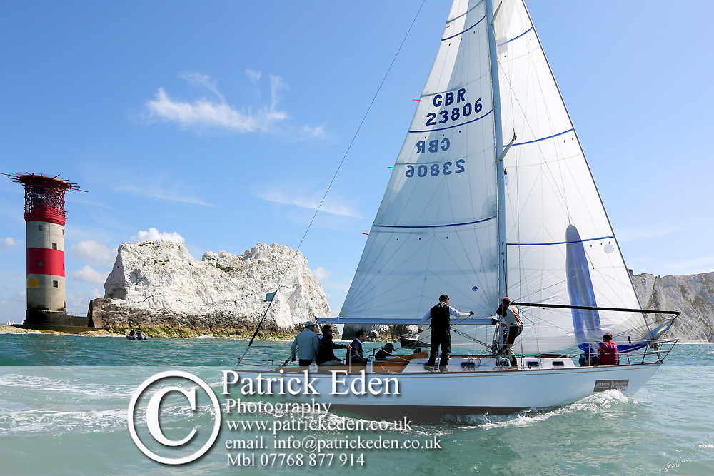 The Needles, Round the Island Race, GBR 23806, Finolar, 2015, The Needles, Isle of Wight, UK, Sports Photography