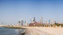 Skyline of central Kuwait City  in Kuwait