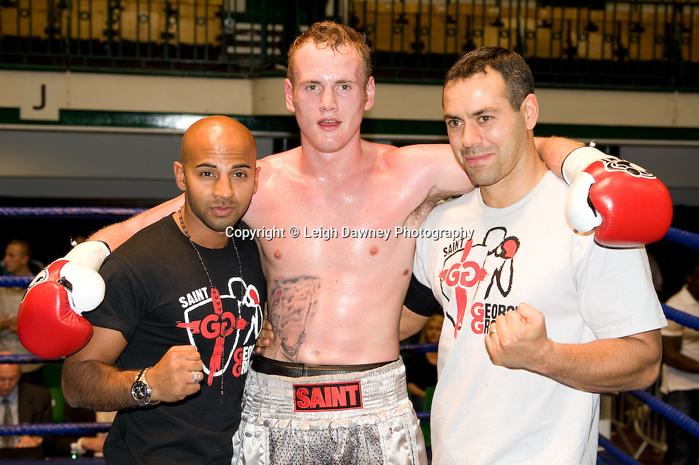 George Groves v Martins Kukulis at York Hall 4th October 2009 (Adam Booth right). Promoted by David Coldwell,Hayemaker Promotions Credit: ©Leigh Dawney Photography