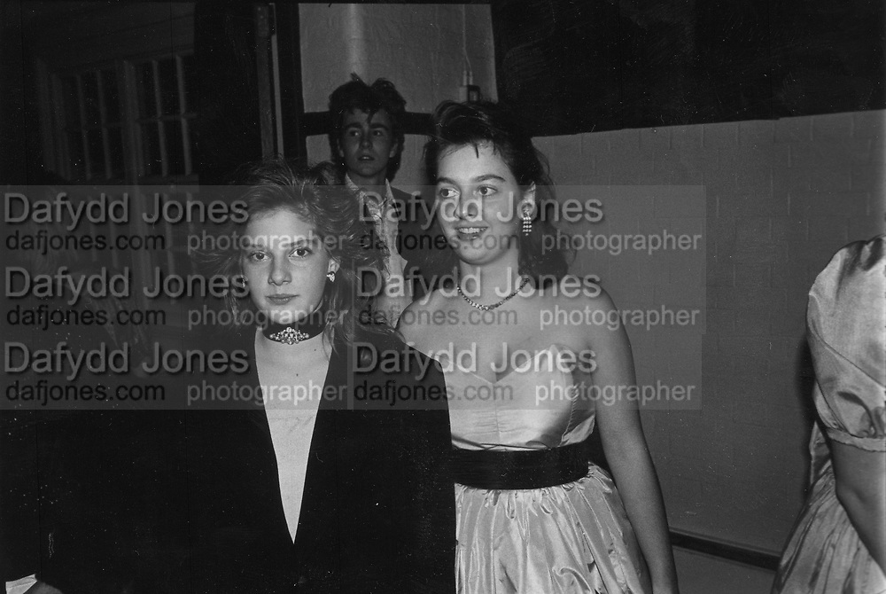 Zia and Antonia Gluckstein at Christmas Ball 17/12/1986 ONE TIME USE ONLY - DO NOT ARCHIVE  © Copyright Photograph by Dafydd Jones 66 Stockwell Park Rd. London SW9 0DA Tel 020 7733 0108 www.dafjones.com