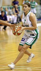 Maja Erkic at basketball qualification match of women division B  between National teams of Slovenia and Netherlands, on August 27, 2008, in Vitranc Hall, Kranjska Gora. Win of NED 83:81. (Photo by Vid Ponikvar / Sportida)