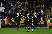Brighton & Hove Albion centre forward Glenn Murray (17) scores a goal 2-1 and celebrates during the EFL Sky Bet Championship match between Birmingham City and Brighton and Hove Albion at St Andrews, Birmingham, England on 17 December 2016.