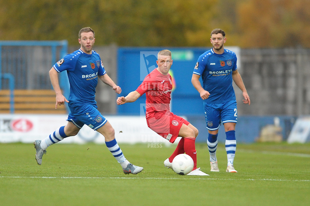 TELFORD COPYRIGHT MIKE SHERIDAN Darryl Knights during the Vanarama National League Conference North fixture between Curzon Asthon and AFC Telford United on Saturday, November 9, 2019.<br /> <br /> Picture credit: Mike Sheridan/Ultrapress<br /> <br /> MS201920-028