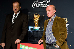 President of Slovenian football federation Ivan Simic and ex-football player and coach Brane Oblak at VIP reception of FIFA World Cup Trophy Tour by Coca-Cola, on March 29, 2010, in BTC City, Ljubljana, Slovenia.  (Photo by Vid Ponikvar / Sportida)