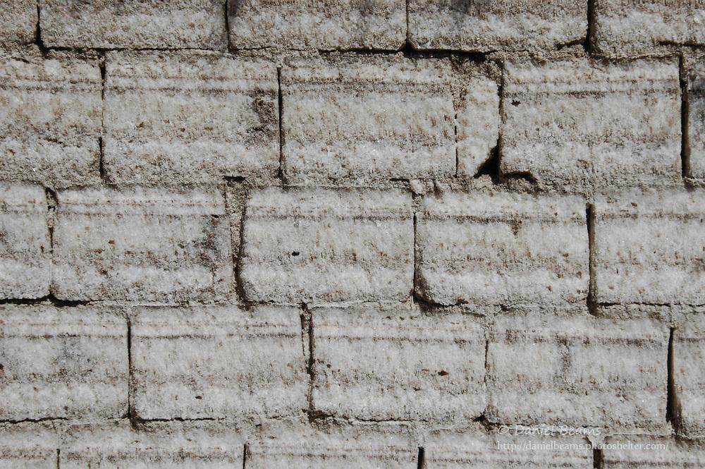 Salt brick wall, Salar de Uyuni, Potosi, Bolivia