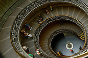 Vatican, 101011   Visitors to the Vatican exit the building through a spiral staircase.  This staircase were  built in 1932 by Giuseppe Momo. This set of stairs is located It's in the newer part of the Vatican museum. (Essdras M Suarez/ EMS Photography)