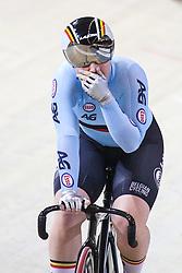 March 4, 2018 - Apeldoorn, Netherlands - Nicky Degrendele (BEL) - Women's Keirin final .during UCI Track Cycling World Championships Apeldoorn 2018, in Apeldoorn, Netherlands, on March 4, 2018. (Credit Image: © Foto Olimpik/NurPhoto via ZUMA Press)