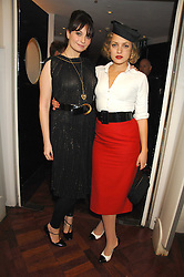 Left to right, GIZZI ERSKINE and MARTHA SITWELL at a party to celebrate the Russian New Year in association with Stolichnaya vodka held at Harvey Nichols, London on 14th January 2008.<br /> <br /> NON EXCLUSIVE - WORLD RIGHTS