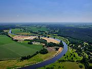Nederland, Overijssel, Gemeente Ommen; 21–06-2020; camping De Roos (Huttopia) in buurtschap Beerze, Overijsselse Vecht.<br /> River Vecht with campping.<br /> luchtfoto (toeslag op standaard tarieven);<br /> aerial photo (additional fee required)<br /> copyright © 2020 foto/photo Siebe Swart