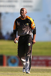 Simon Khomari of Boland during the Africa T20 cup pool D match between Boland and Gauteng held at the Boland Park cricket ground in Paarl on the 25th September 2016.<br /> <br /> Photo by: Shaun Roy/ RealTime Images