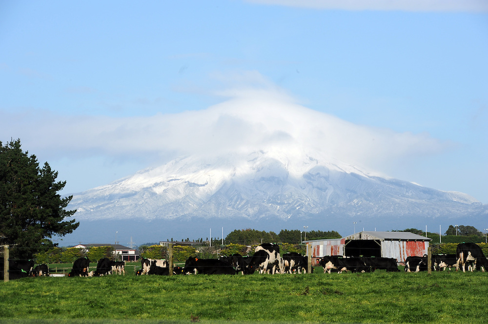 Mount Taranaki, New Plymouth, New Zealand, Friday, June 21 2013. Credit:SNPA / Ross Setford
