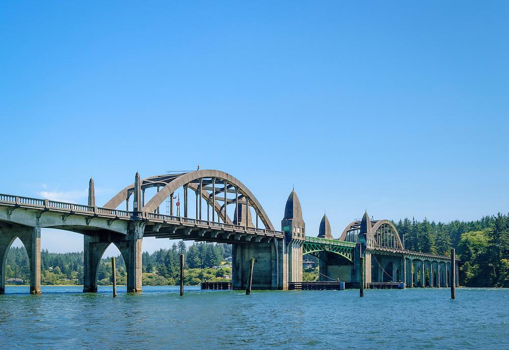 Siuslaw River Bridge, Florence, Oregon Coast..
