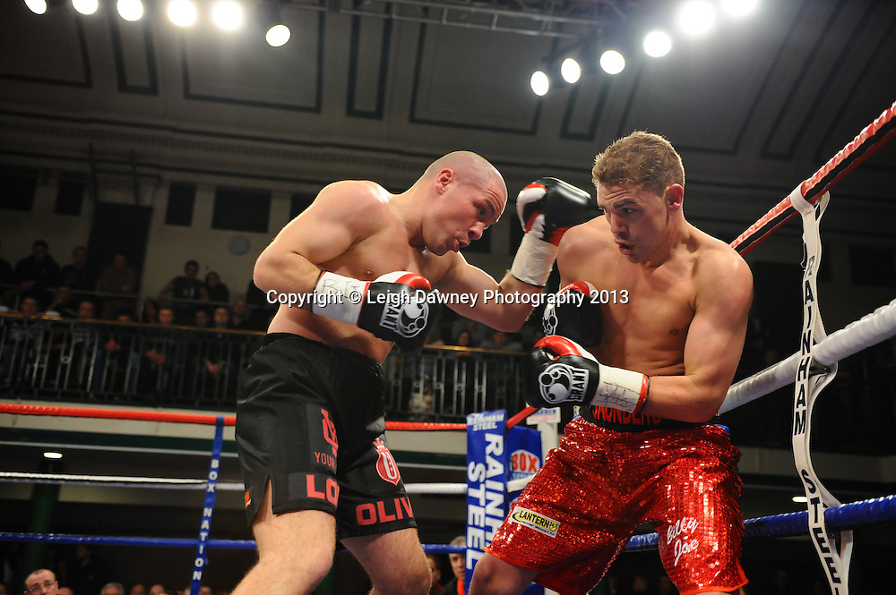 Billy Joe Saunders v Matthew Hall for the British & Commonwealth Middleweight Title at York Hall, Bethnal Green, London, UK on the 21st March 2013. Frank Warren Promotions. © Leigh Dawney Photography 2013.