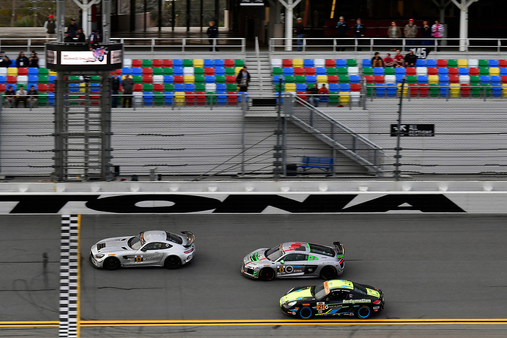 IMSA Continental Tire SportsCar Challenge<br /> BMW Endurance Challenge at Daytona<br /> Daytona Beach, Florida, USA<br /> Friday 26 January 2018<br /> #57 Winward Racing / HTP Motorsport, Mercedes-AMG, GS: Bryce Ward, Indy Dontje, #3 Winward Racing / HTP Motorsport, Mercedes-AMG, GS: Craig Lyons, Kris Wilson, #21 Bodymotion Racing, Porsche Cayman, ST: Max Faulkner, Jason Rabe <br /> World Copyright: Scott R LePage<br /> LAT Images<br /> <br /> ref: Digital Image _SRL2277
