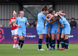 Caroline Weir of Manchester City Women celebrates her goal - Mandatory by-line: Paul Knight/JMP - 16/09/2018 - FOOTBALL - Stoke Gifford Stadium - Bristol, England - Bristol City Women v Manchester City Women - Continental Tyres Cup