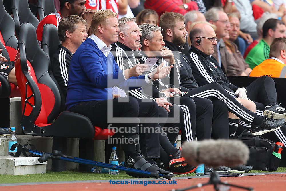 Southampton Manager Ronald Koeman during the Barclays Premier League match at the St Mary's Stadium, Southampton<br /> Picture by Paul Chesterton/Focus Images Ltd +44 7904 640267<br /> 30/08/2015