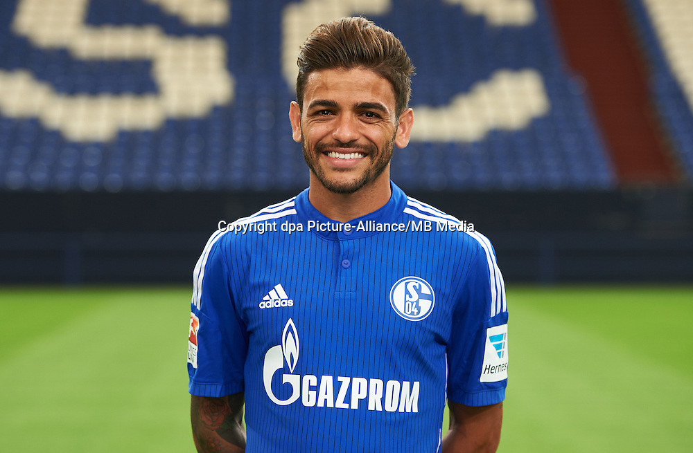 German Soccer Bundesliga 2015/16 - Photocall of FC Schalke 04 on 17 July 2015 in Gelsenkirchen, Germany: Junior Caicara.