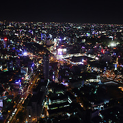 The view of Ho Chi Minh City at night from the viewing level of The Bitexco Financial Tower in Ho Chi Minh City, Vietnam. 3rd March 2012. Photo Tim Clayton