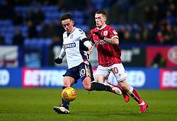 Zach Clough of Bolton Wanderers takes on Ryan Kent of Bristol City - Mandatory by-line: Robbie Stephenson/JMP - 02/02/2018 - FOOTBALL - Macron Stadium - Bolton, England - Bolton Wanderers v Bristol City - Sky Bet Championship