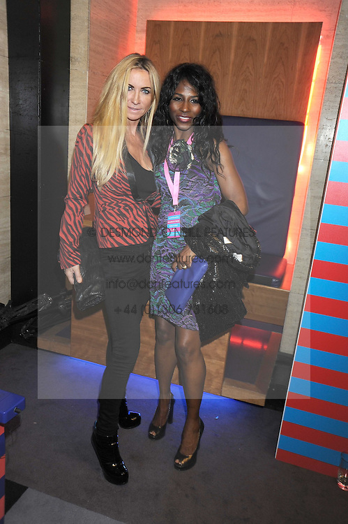 Left to right, MEG MATTHEWS and SINITTA at the launch of Nokia's 'Comes With Music' held at the Bloomsbury Ballroom, 37-63 Bloomsbury Square, London WC1 on 21st October 2008.