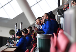 Rugby press corp at Ashton Gate - Mandatory by-line: Paul Knight/JMP - 26/02/2017 - RUGBY - Ashton Gate - Bristol, England - Bristol Rugby v Bath Rugby - Aviva Premiership