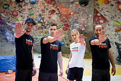 Photoshooting with Slovenian climbing team for Prva osebna zavarovalnica, on June 20, 2018 in PCL, Ljubljana, Slovenia. Photo by Urban Urbanc / Sportida