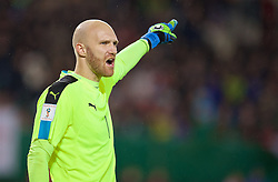VIENNA, AUSTRIA - Thursday, October 6, 2016: Austria's goalkeeper Robert Almer in action against Wales during the 2018 FIFA World Cup Qualifying Group D match at the Ernst-Happel-Stadion. (Pic by David Rawcliffe/Propaganda)