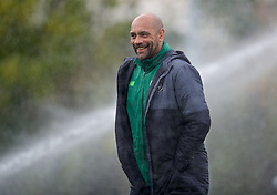 WREXHAM, WALES - Wednesday, October 30, 2019: Republic of Ireland's head coach Paul Osam during the 2019 Victory Shield match between Wales and Republic of Ireland at Colliers Park. (Pic by David Rawcliffe/Propaganda)