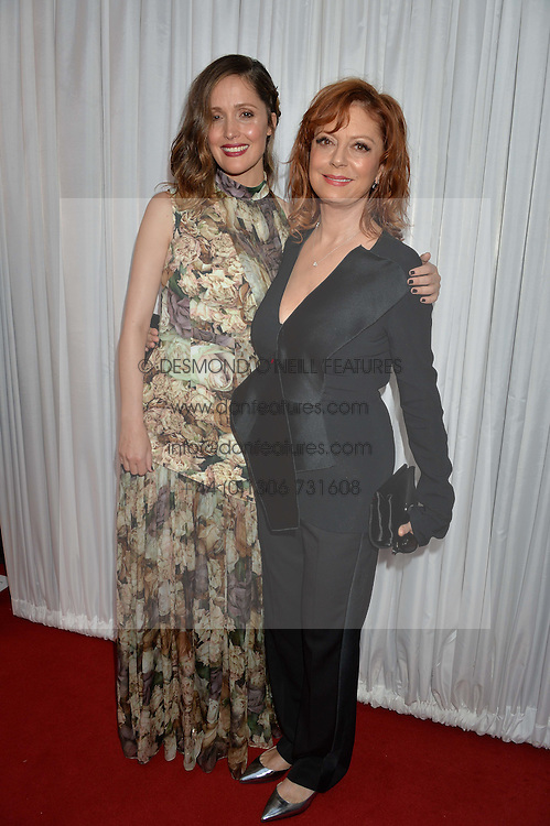 Left to right, ROSE BYRNE and SUSAN SARANDON at the Glamour Magazine Women of the Year Awards in association with Next held in the Berkeley Square Gardens, London on 7th June 2016.