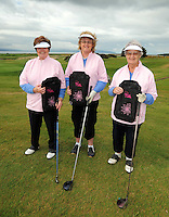 Mary Gunning,  Patricia Callaghan and Mary O'Gara from Castlerea  Golf Club at the Galway Golf Club for the AIB Ladies Irish Open Club Challenge qualifier..Photo:Andrew Downes