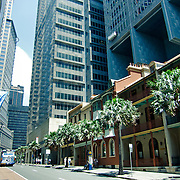 Streets of Sydney central business district During Australia Day.