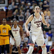 Katie Lou Samuelson, UConn, in action during the UConn Huskies Vs East Carolina Pirates Quarter Final match at the  2016 American Athletic Conference Championships. Mohegan Sun Arena, Uncasville, Connecticut, USA. 5th March 2016. Photo Tim Clayton