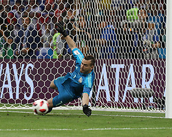 July 7, 2018 - Sochi, Russia - July 07, 2018, Sochi, FIFA World Cup 2018, the playoff round. 1/4 finals of the World Cup. Football match Russia - Croatia at the stadium Fisht. Player of the national team Igor Akinfeev (Credit Image: © Russian Look via ZUMA Wire)