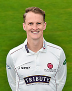 Head shot.  Max Waller wearing the Somerset Specsavers County Championship kit at the media day at Somerset County Cricket Club at the Cooper Associates County Ground, Taunton, United Kingdom on 11 April 2018. Picture by Graham Hunt.