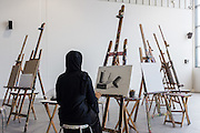 DUBAI, UAE - APRIL 30, 2016: The community Art Space 'thejamjar' offers art programs, educational initiatives, and community projects