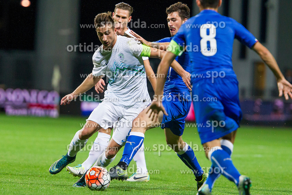 Andraz Sporar of Slovenia during football match between U21 National Teams of Slovenia and Italy in 4th Round of UEFA 2017 European Under-21 Championship Qualification on October 8, 2015 in stadium Bonifika, Koper / Capodistria, Slovenia. Photo by Urban Urbanc / Sportida