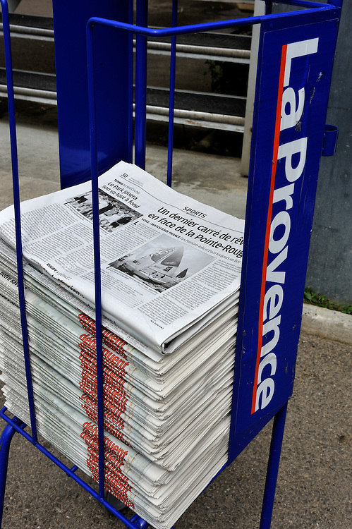La Provence, newspaper coverage. Photo: Chris Davies/WMRT