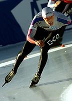Skøyter: Innsbruck. 2001-11-18. Verdenscup 5000 m men.<br />Lasse Sætre.<br /><br />Foto: Calle Törnström, Digitalsport